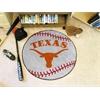 """FANMATS Texas Baseball Mat 27"""" diameter"""