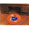 "FANMATS Kansas Basketball Mat 27"" diameter"