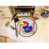 """FANMATS Kansas Baseball Mat 27"""" diameter"""