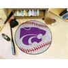 "FANMATS Kansas State Baseball Mat 27"" diameter"