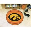 "FANMATS Iowa Basketball Mat 27"" diameter"