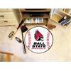 """FANMATS Ball State Baseball Mat 27"""" diameter"""
