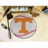 """FANMATS Tennessee Baseball Mat 27"""" diameter"""