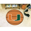 "FANMATS Miami Basketball Mat 27"" diameter"