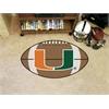 "FANMATS Miami Football Rug 20.5""x32.5"""