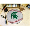 "FANMATS Michigan State Baseball Mat 27"" diameter"