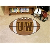 "FANMATS Wyoming Football Rug 20.5""x32.5"""