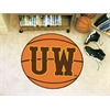 "FANMATS Wyoming Basketball Mat 27"" diameter"