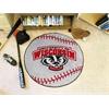 """FANMATS Wisconsin Baseball Mat 27"""" diameter"""