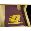 "FANMATS Central Michigan 2-piece Carpeted Car Mats 17""x27"""