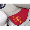 "FANMATS Iowa State 2-piece Carpeted Car Mats 17""x27"""