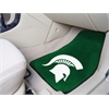 "FANMATS Michigan State 2-piece Carpeted Car Mats 17""x27"""