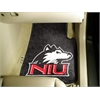"FANMATS Northern Illinois 2-piece Carpeted Car Mats 17""x27"""
