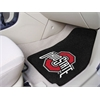 "FANMATS Ohio State 2-piece Carpeted Car Mats 17""x27"""