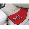 "FANMATS Texas Tech 2-piece Carpeted Car Mats 17""x27"""