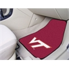 "FANMATS Virginia Tech 2-piece Carpeted Car Mats 17""x27"""