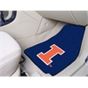 "FANMATS Illinois 2-piece Carpeted Car Mats 17""x27"""