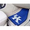 """FANMATS Kentucky 2-piece Carpeted Car Mats 17""""x27"""""""