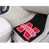 "FANMATS Nebraska 2-piece Carpeted Car Mats 17""x27"""