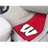 "FANMATS Wisconsin 2-piece Carpeted Car Mats 17""x27"""