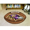 "FANMATS NFL - Baltimore Ravens Football Rug 20.5""x32.5"""