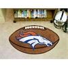 """FANMATS NFL - Denver Broncos Football Rug 20.5""""x32.5"""""""