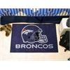 """FANMATS NFL - Denver Broncos Starter Rug 19""""x30"""""""