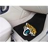 """FANMATS NFL - Jacksonville Jaguars 2-piece Carpeted Car Mats 17""""x27"""""""
