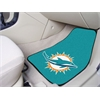 "FANMATS NFL - Miami Dolphins 2-piece Carpeted Car Mats 17""x27"""