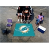FANMATS NFL - Miami Dolphins Tailgater Rug 5'x6'