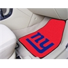"FANMATS NFL - New York Giants 2-piece Carpeted Car Mats 17""x27"""