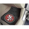 "FANMATS NFL - San Francisco 49ers 2-piece Carpeted Car Mats 17""x27"""