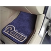 "FANMATS NFL - St. Louis Rams 2-piece Carpeted Car Mats 17""x27"""