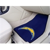 "FANMATS NFL - San Diego Chargers 2-piece Carpeted Car Mats 17""x27"""