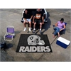 FANMATS NFL - Oakland Raiders Tailgater Rug 5'x6'