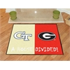 "FANMATS Georgia Tech - Georgia House Divided Rugs 33.75""x42.5"""
