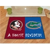 "FANMATS Seminoles - Florida House Divided Rugs 33.75""x42.5"""