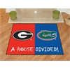 "FANMATS Georgia - Florida House Divided Rugs 33.75""x42.5"""