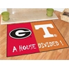 "FANMATS Georgia - Tennessee House Divided Rugs 33.75""x42.5"""