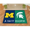 "FANMATS Michigan - Michigan State House Divided Rugs 33.75""x42.5"""