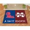 "FANMATS Mississippi - Mississippi State House Divided Rugs 33.75""x42.5"""