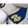 "FANMATS Notre Dame 2-piece Carpeted Car Mats 17""x27"""