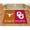 "FANMATS Texas - Oklahoma House Divided Rugs 33.75""x42.5"""