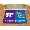 """FANMATS Kansas - K-State House Divided Rugs 33.75""""x42.5"""""""