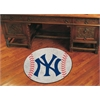 "FANMATS MLB - New York Yankees Baseball Mat 27"" diameter"