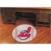 """FANMATS MLB - Cleveland Indians Baseball Mat 27"""" diameter"""