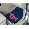 "FANMATS MLB - Minnesota Twins 2-piece Carpeted Car Mats 17""x27"""