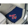 "FANMATS MLB - Atlanta Braves 2-piece Carpeted Car Mats 17""x27"""