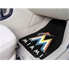 "FANMATS MLB - Miami Marlins 2-piece Carpeted Car Mats 17""x27"""