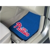 "FANMATS MLB - Philadelphia Phillies 2-piece Carpeted Car Mats 17""x27"""